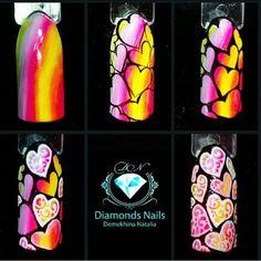 Valentine Nail Art, Valentines, Nail Place, Colorful Nail Art, Best Canvas, Nail Tutorials, Love Nails, Nail Tech, Diy Nails