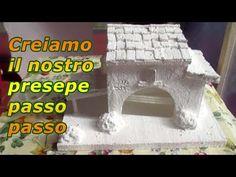COME COSTRUIRE UN PRESEPE CON POLISTIROLO E GESSO - parte 2 - YouTube