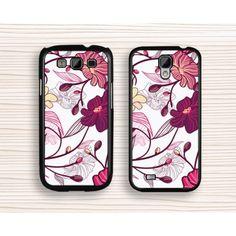 floral Samsung case,pink flower Note 2 case,girl's gift Note 3,floral Galaxy S5,flower Galaxy S4 case,art flower Galaxy S3 case
