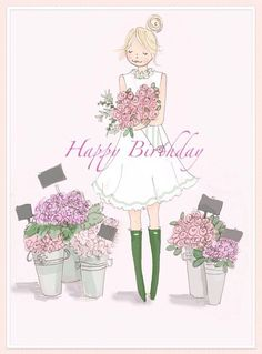 The Heather Stillufsen Collection from Rose Hill Designs Best Birthday Quotes, Birthday Wishes, Happy Birthday, Rose Hill Designs, Monica Crema, Image Deco, Floral Wall Art, Flower Market, Illustrations