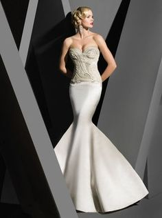 VICTOR HARPER COUTURE Victor Harper Couture Mermaid *modern Glam* Vhc284 Wedding Dress $5,975