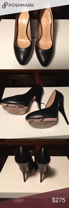 Authentic Giuseppe Zanotti Pumps. PRICE REDUCTION! Snakeskin trimmed platform pumps;  great for work and a night on the town! No tags but never worn! Giuseppe Zanotti Shoes Heels