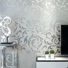 Modern Wallpaper Designs for Living Room Grey Classic Luxury Floral Embossed Textured Wall Paper Modern Wallpaper for Living Room Bedroom Home Decor Textured Wallpaper, Victorian Wallpaper, Wallpaper Living Room, Wallpaper, Modern Wallpaper, Embossed Wallpaper, Silver Grey Wallpaper, Wall Wallpaper, Room Wallpaper
