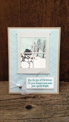 Christmas Card using Christmas Magic Stamp Set and Hearth and Home framelits…