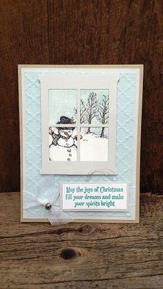 Christmas Card using Christmas Magic Stamp Set and Hearth and Home framelits…