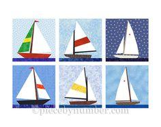 Blocs de voilier de courtepointe, papier reconstitué téléchargement immédiat, modèle de bateau, décor nautique, édredon de bébé garçon, courtepointe patron, patron courtepointe facile                                                                                                                                                                                 Plus