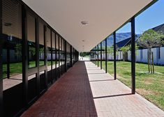 Image 4 of 42 from gallery of The International School of Hout Bay / Luis Mira Architects + StudioMAS + Sergio Aguilar. Photograph by Wieland Gleich Outdoor Shade, Shade Structure, International School, Architecture Details, Pergola, University, Africa, Stairs, Exterior