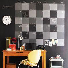 Ambientes e objetos decorados com tinta de quadro negro