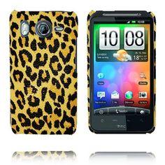Safari Fashion (Gul Leopard) HTC Desire HD Deksel