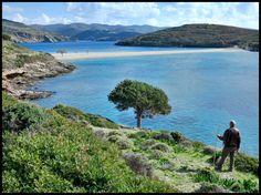 Best beach on Kythnos, Greece