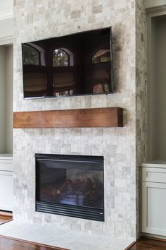 After - Fireplace remodel   Interior Designer: Carla Aston