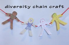 Try making this Black History Month Craft with the kids! Let's Make a Diversity Chain! Diversity Activities, Multicultural Activities, Activities For Teens, Infant Activities, Art For Kids, Crafts For Kids, Black History Month Activities, Preschool Activities, Creative