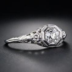 .70 Carat Diamond Art Deco Engagement Ring - 10-1-4491 - Lang Antiques
