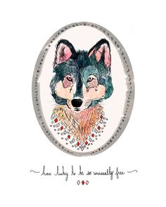 how lucky to be so unusually free Art Print by MEERA LEE PATEL | Society6