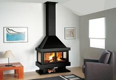 View the extensive range of Spanish made Rocal Fireplaces. Modern and efficient with low emissions these unique fires are perfect for the modern home. Stove Fireplace, Wood Fireplace, Fireplaces, Traditional Fireplace, Hearth, Home Projects, Home And Living, Living Room Decor, Home Appliances