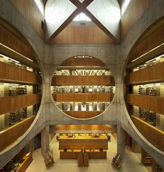 Louis Kahn 1972: Phillips Exeter Academy Library, Exeter, New Hampshire; via The Architecture Blog