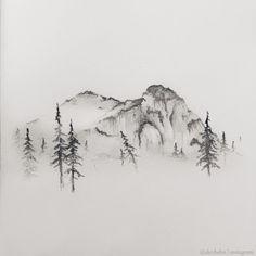 mountain drawing - Buscar con Google