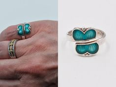 ON SALE Vintage Aksel Holmsen 925 Silver by HauteVintageJewels Pretty Rings, Beautiful Rings, Turquoise Blue Color, Teal, Silver Beads, 925 Silver, The Ring Face, Jewellers Bench, Bypass Ring