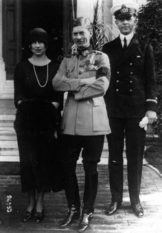 Crownprince Carol of Romania with spouse, Crowprincess Elena , nee Pss of Greece and her brother, Prince Pavlos, later King of Greece