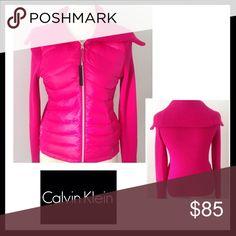 CALVIN KLEIN Performance Hot Pink Down/Knit Coat CALVIN KLEIN Performance Hot Pink Down/Knit Coat. Lightweight. NWT. Calvin Klein Jackets & Coats