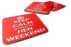 Keep Calm It's Nearly The HEN Weekend Wooden Drinks Bar T...…