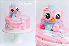 Giggle and Hoot Party: Hootabelle cake
