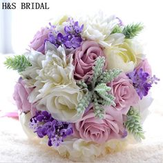 New Arrival Magical Colorful Beautiful Colorful Bridal Bridesmaid Flower wedding bouquet artificial flower rose bridal bouquets