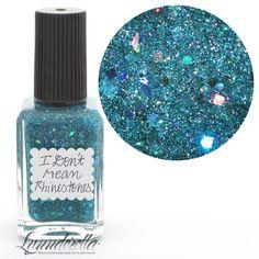 Lynnderella Teal Holographic Micro Glitter Nail Polish-I Don't Mean Rhinestones
