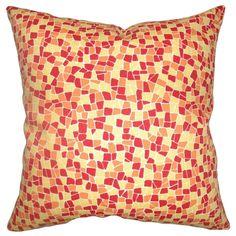 Bentlee Geometric Floor Pillow Sungold