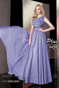 Vestido Plus Size - tamanho grande, peça única na cor violota, loja localizada na zona sul de SP (11) 2274 -9604 ou 2235-0268