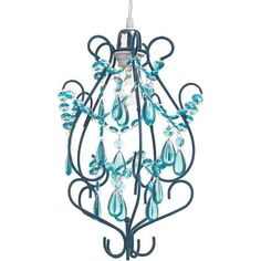 teal chandelier shade - Google Search