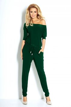 Numoco Overall Sporty - dark green Latest Fashion Trends, Trendy Fashion, Fashion News, Mens Sweatpants, Womens Size Chart, Modern Outfits, Maternity Tops, Fashion Company, Playsuits