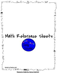 The 25+ best Math reference sheet ideas on Pinterest