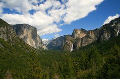Yosemite - Bridalveil Falls, Half Dome, and El Capitain, CA