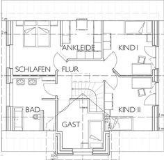 Kapitänsgiebelhaus Musterhaus Grundriss Obergeschoss mit 71,07 m² Wohnfläche - jetzt neu bei uns im Musterhauspark