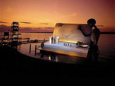 Impresionantes escenografias de  los teatros flotantes del Festival Bregenz en Austria.