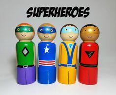 Superhéroe Peg muñeca conjunto vivero Decor favores de