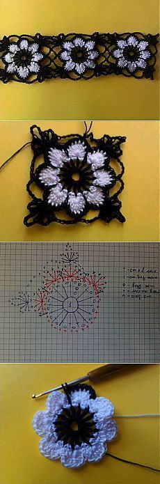 Transcendent Crochet a Solid Granny Square Ideas. Inconceivable Crochet a Solid Granny Square Ideas. Granny Square Crochet Pattern, Crochet Flower Patterns, Crochet Diagram, Crochet Chart, Crochet Squares, Crochet Granny, Crochet Motif, Irish Crochet, Crochet Flowers