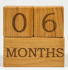 Baby Age Blocks Week Month Year Grade by littlewoodenwonders