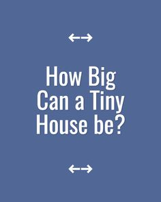 How big can a tiny house be? For people who aren't bothered about owning big houses and having lots of possessions, we sure do seem to worry a lot about size! Tiny House Builders, Building A Tiny House, Tiny House Plans, Tiny House On Wheels, Tiny House Family, Tiny House Living, Cheap Tiny House, Small Space Living, Living Spaces