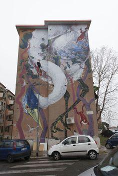 StreetArt Roma: Senza titolo | Hitnes | 2015 | Zona: San Basilio | #art #streetart #roma