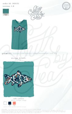 Zeta Tau Alpha   ZTA   Fish T-Shirt Design   South by Sea   Greek Tee Shirts   Greek Tank Tops   Custom Apparel Design   Custom Greek Apparel   Sorority Tee Shirts   Sorority Tanks   Sorority Shirt Designs