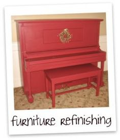 refinishing furniture.....and wow! am gonna have a piano makeover real soon! thanks to a good friend, for giving us her sons old but still working piano....best thing is, it was for FREE! @maydelrosario