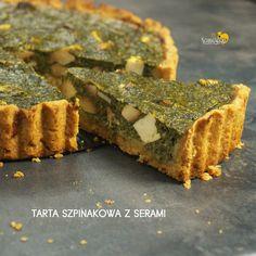 TARTA SZPINAKOWA Z SERAMI, czyli wytrawna tarta na kruchym spodzie z serem FETA i serkiem wędzonym Capri