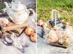 Outside tea party Picnic Engagement, Engagement Shoots, Vintage Picnic, Inspiration Boards, Tea Time, Tea Party, Romantic, Table Decorations, Engagement Photos