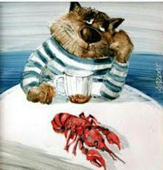 Art. Anatoly Yaryshkin Cat 2, Spirit Animal, Cat Love, Tigger, Grunge, Teddy Bear, Kitty, Disney Characters, Humor