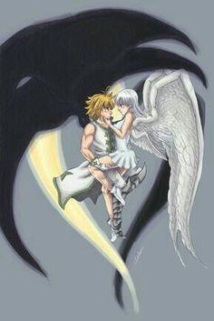 Seven Deadly Sins Anime, Elizabeth Seven Deadly Sins, 7 Deadly Sins, Anime Kawaii, Anime Love, Anime Guys, Otaku Anime, Manga Anime, Meliodas And Elizabeth