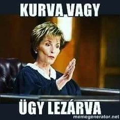 Case Closed Judge Judy - You both are idiots CAS… Funny Captions, Funny Memes, Hilarious, Jokes, Picture Captions, Haha, Just In Case, Just For You, Case Closed