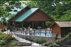 Swimming pool at Black Bear Falls Resort. Gatlinburg, TN. www.jacksonmountain.com