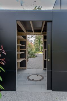 "Designer garden house ""black box"" in Munich by design @ garten Augsburg Door Design, Garden Design, Cheap Backyard, Backyard Decor, Shed Doors, Black Box, Carport Designs, Garden Storage, Garden Boxes Diy"